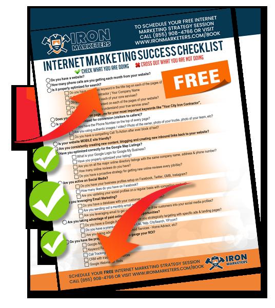 Iron Marketing Success Checklist